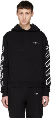 Off-White Off White Black Diagonal Arrows Logo Hoodie
