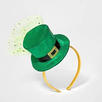 Green & Black Distributed by Target Leprechan Hat Headband - Green/Black