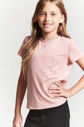 Forever 21 Girls Faux Suede Tee (Kids)