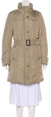 Burberry Belted Puffer Coat Beige Belted Puffer Coat