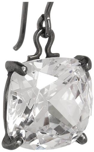 Bottega Veneta Sterling silver cubic zirconia earrings