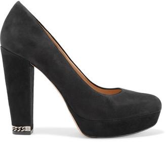 MICHAEL Michael Kors - Sabrina Suede Pumps - Black $150 thestylecure.com