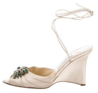 Jimmy Choo Embellished Wrap-Around Sandals