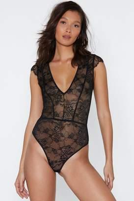 Nasty Gal Meet Me in My Boudoir Lace Bodysuit