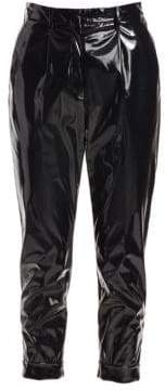 No.21 No. 21 Pleated PVC Cropped Trousers