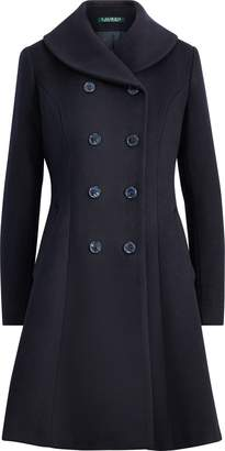 Ralph Lauren Wool Fit-and-Flare Coat