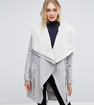 Asos Tall TALL Waterfall Parka with Fleece Lining