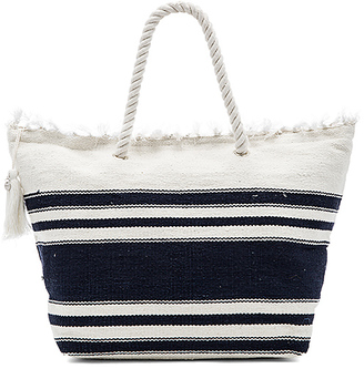 Seafolly Carried Away Riviera Tote in White. $92 thestylecure.com
