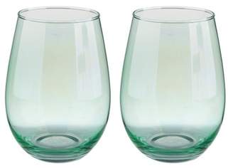 SLANT COLLECTIONS Stemless Wine Glasses - Set of 2