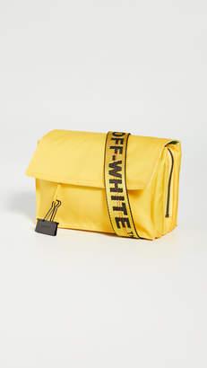Off-White Zipped Flap Bag