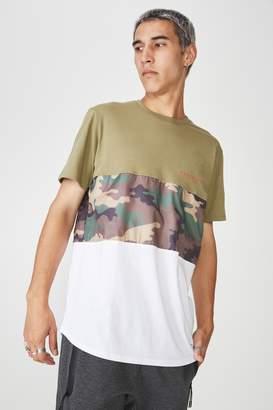 Factorie Camo Spliced T Shirt