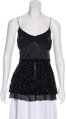 Nicole Miller Sleeveless Patterned Top
