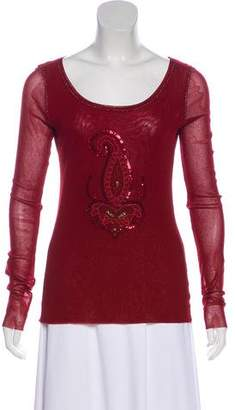 Fuzzi Long Sleeve Embellished Top