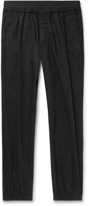 McQ Tapered Pleated Cotton-Poplin Trousers - Men - Black