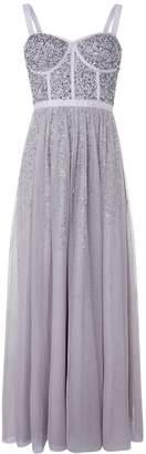 Monsoon Courtney Embellished Corset Maxi Dress - Grey