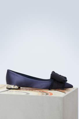Miu Miu Ribbon ballet pumps