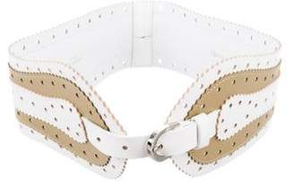 Oscar de la Renta Laser Cut Waist Belt