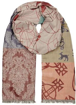 Vivienne Westwood Printed Panelled Cotton Scarf