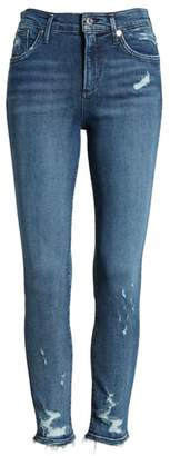 A Gold E AGOLDE Sophie Distressed High Waist Crop Skinny Jeans