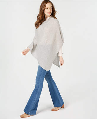 Charter Club Pure Cashmere Solid Basic Poncho, in Regular and Petite Sizes