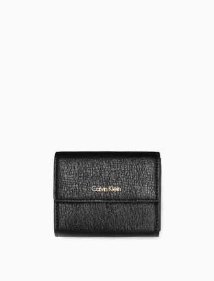 Calvin Klein textured small trifold wallet