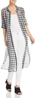 Calvin Klein Sheer Gingham Shirt Dress - 100% Exclusive