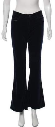 J Brand Mid-Rise Wide-Leg Velvet Jeans