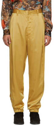 BED J.W. FORD Yellow Satin Track Pants