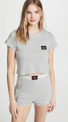 Calvin Klein Underwear Monogram Mesh Pajama Top
