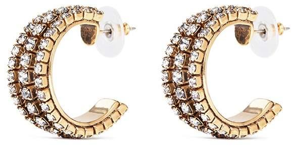 Erickson Beamon Swarovski crystal cutout hoop earrings