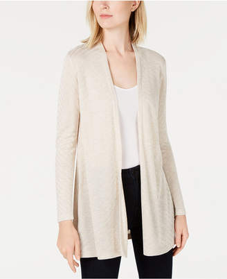 Charter Club Geo-Stitch Open-Front Cardigan