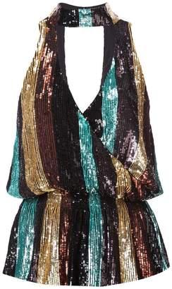 Caroline Constas striped sequinned top