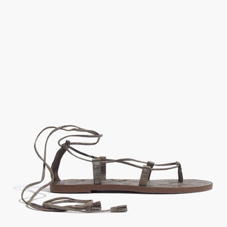 The Boardwalk Lace-Up Sandal in Metallic $69.50 thestylecure.com