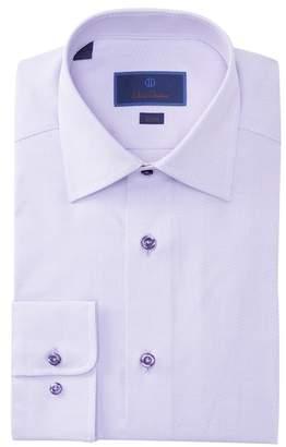 David Donahue Slim Fit Print Dress Shirt
