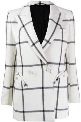 BLAZÉ MILANO check fitted jacket