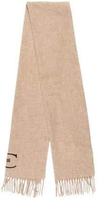 Just Cavalli Wool Fringe Scarf w/ Tags