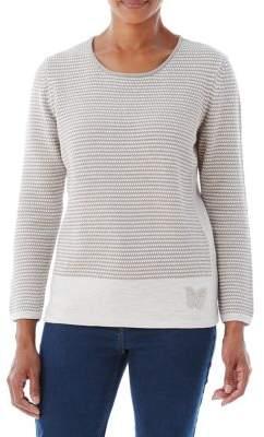 Olsen Butterfly Badge Sweater