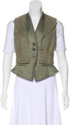 Etro Collared V-Neck Vest