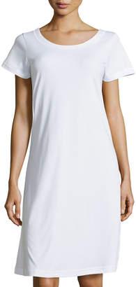 P Jamas Butterknit Short-Sleeve Short Gown