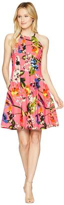 Vince Camuto Printed Halter Fit and Flare Dress Women's Dress
