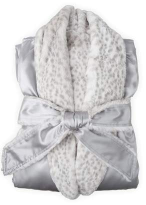 Little Giraffe Satin Snowleopard Robe