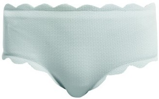 Marysia Swim Spring Scallop Edged Bikini Briefs - Womens - Light Blue