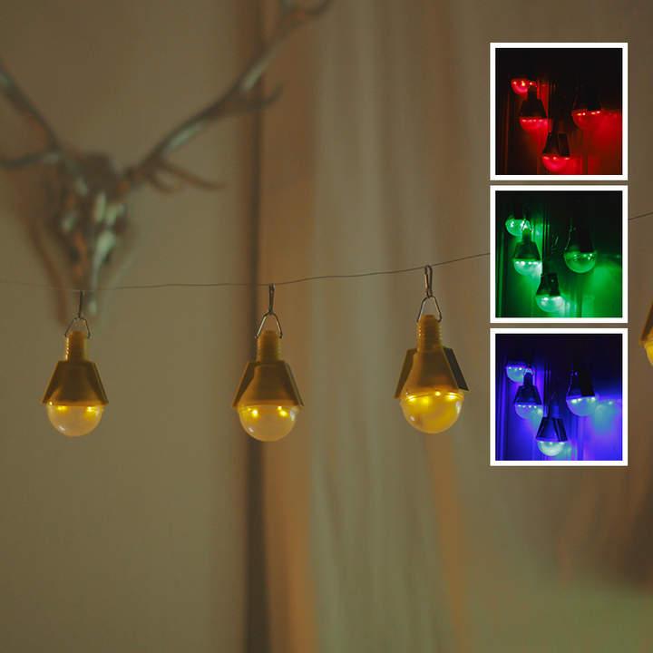 4er-Set Solar-Glühbirnen mit Karabinerhaken
