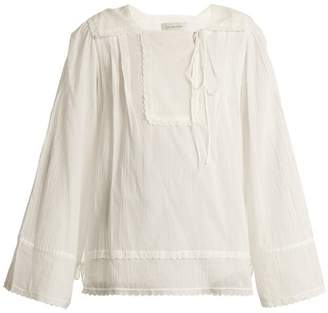 Lee mathews Mathews - Carly Pleated Cotton Muslin Blouse - Womens - White