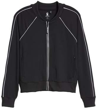 Good American Piped Bomber Jacket