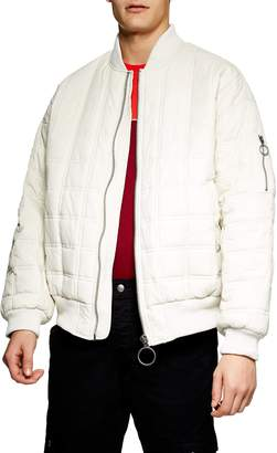 Topman St. Clair Oversize Quilted Bomber Jacket