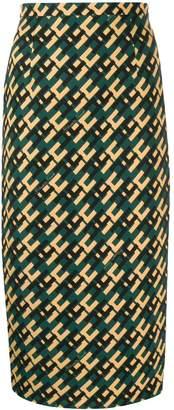 Elisabetta Franchi geometric-print skirt
