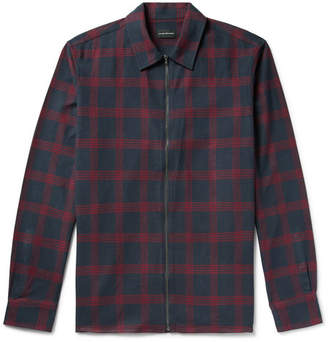 Club Monaco Checked Cotton-Flannel Zip-Up Shirt Jacket