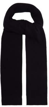 De Bonne Facture - Piqué Knit Wool Scarf - Mens - Navy