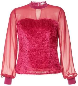 GUILD PRIME sheer fringed blouse